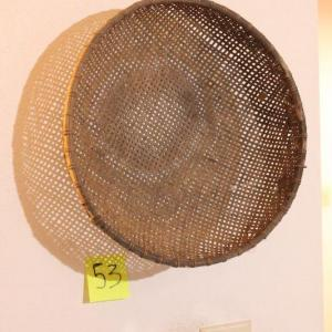 Photo of Lot 53 Antique Rice Sifter Basket