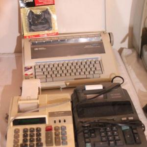 Photo of Lot 66 Smith Corona Typewriter, 2 Adding Machines
