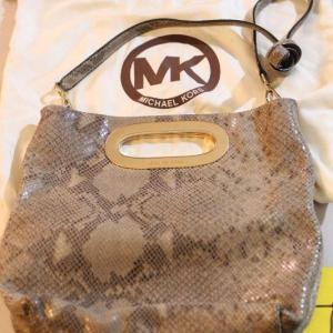 Photo of Lot 49 Michael Kors Snake Print Bag w/ Duster