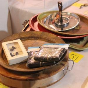 Photo of Lot 51 Vintage Serving Platters, Pottery Barn Wine Accessories & More