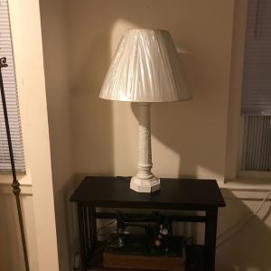 Photo of Vintage Looking Metal Base Table Lamp - 31 inches tall