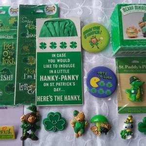 Photo of Hallmark St. Patrick's Day Lapel Pins, Merry Miniatures & Stickers