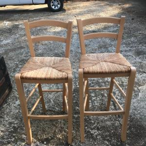 Photo of Italy made  solid Wood Bar stool