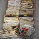 Box of Vintage Sewing Patterns
