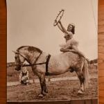 Circus woman on horse photograph