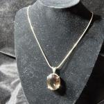 Sterling Smokey Quartz Necklace