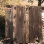 Reclaimed Antique Redwood Barn Door