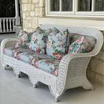 Bar Harbor Style Wicker Sofa