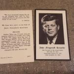 JFK prayer cards