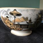 """Antique Dutch Petrus Regout & Co. Maastricht Pajong Pattern Ceramic Large 8"""" B"""