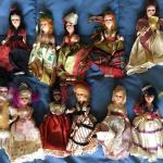 Collection of Vintage 11 International Dolls 5""