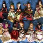 "Collection of Vintage 11 International Dolls 5"""
