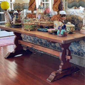Photo of Large Vintage Farmhouse Console or Dining Table