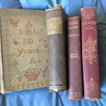 Lot of 4 Antique Rare Books c. 1900