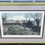"""G.D. ROWLANDSON c.1899 Large 26 x 19 """"My Lady Leads"""" Hand Colored Engraving"""