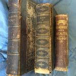Lot of 3 Antique Rare Books 1853-1874