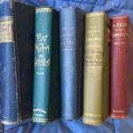 Lot of 5 Antique Rare Books c. 1900