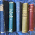 Lot of 5 Antique Rare Books c. 1900