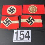 LOT#154B: Four Nazi Armbands (#2)
