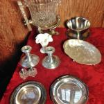 LOT 504   GODINGER ICE BUCKET WITH OTHER SILVER COLORED ITEMS
