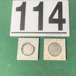 LOT#114B: 1938S & 1939A Deutsche Mark Coins