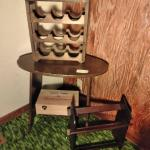 LOT 505   WINE RACK, SMALL TABLE
