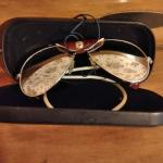 LOT 543  SOLAR BRAND SUNGLASSES LEATHER SIDE SHIELD