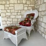 Bar Harbor Wicker Style Chair and Ottoman