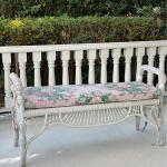 Bar harbor Wicker Style Bench