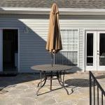 Outdoor Metal Table with Towa Umbrella