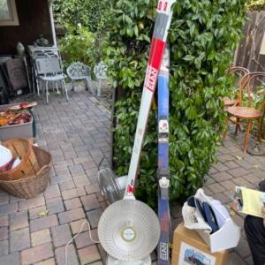 Photo of Lot 155. Skis, heater, fan, car cover, car racks and hats--$15