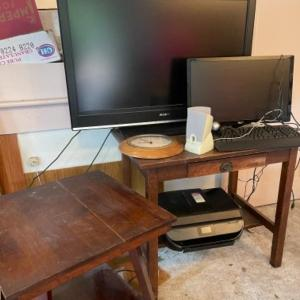 Photo of Lot 143. 46-inch Sony flat-screen television, Computer Accessories ; square swiv