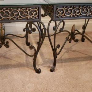 Photo of 2 Glass Top End Tables