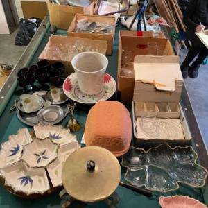 Photo of Lot 173. Large collection of glassware, ceramics, unused wok, cranberry glass, c