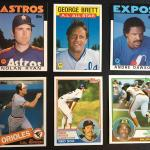 Lot of Vintage Rare TOPPS Vintage Sports cards with Boggs, Ripken, Brett and mor