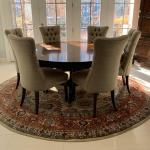 "Dining Table with 8 Chairs 71"" round"