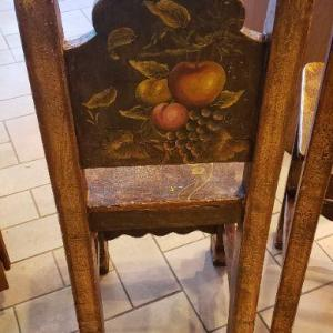 Photo of 2 Tall Painted Kitchen Stools
