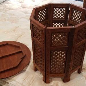Photo of Round Wood Carved Table