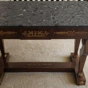 Photo of Black Marble Top Table