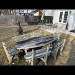 Lot OS 5: Wooden Table and Chairs
