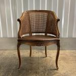 French Provincial Cane Back Sitting Chair