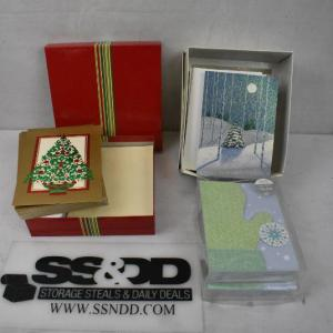 Photo of Large Lot Holiday Greeting Cards (3 Designs) with Envelopes