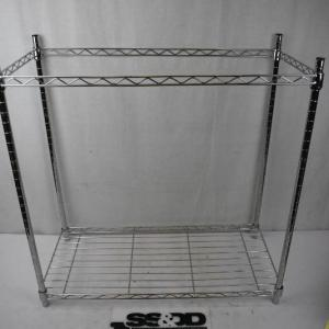 Photo of Wire Shelf with ONE shelf. Could be Used as top shelf or bottom shelf