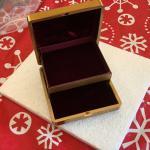 Antique travel jewelry box