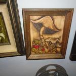 2 Mushroom Paintings on Board - MCM