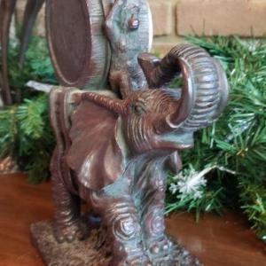Photo of Elephant/Monkey Mantle Clock