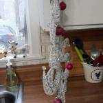 SALE $10 Funky 17 inch White Christmas Tree