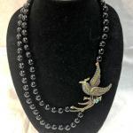 Heidi Daus Swarovski Bird Statement Necklace YD#020-1220-05003