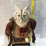 Folk Art Whimsy Wise Old Owl On Top of Books Wood Figurine Statuette YD#020-1220