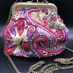 Bead Embellished Small Shoulder Bag Clutch by Mary Frances